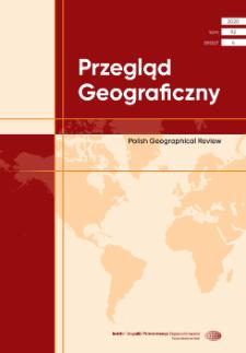 Przegląd Geograficzny T. 92 z. 4 (2020), Spis treści