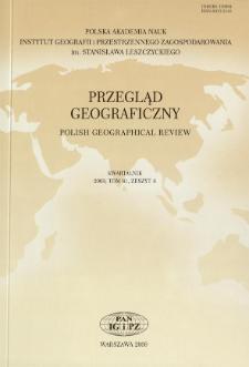 Przegląd Geograficzny T. 81 z. 4 (2009), Spis treści