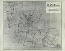 Plan der Stadt Brunnstadt : nach dem poln. Stadtplan Ozorkowa 1:5000 : Maßstab 1:10 000