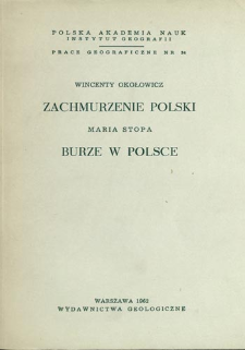 Zachmurzenie Polski = Cloudines in Poland = Oblačnost' na territorii Pol'ši