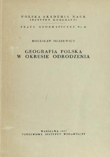 Geografia polska w okresie Odrodzenia = Geographie polonaise de la Renaissance = Pol'skaâ geografiâ èpohi Vozroždeniâ