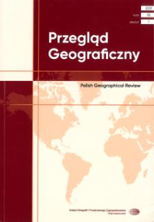 Przegląd Geograficzny T. 93 z. 1 (2021), Spis treści