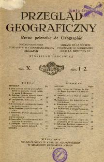 Przegląd Geograficzny T. 10 z. 1-2 (1930)