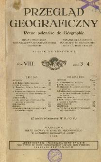 Przegląd Geograficzny T. 8 z. 3-4 (1928)