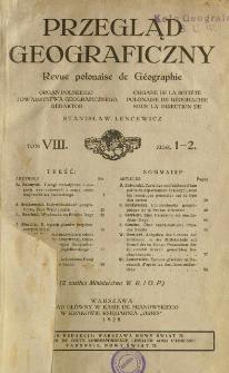 Przegląd Geograficzny T. 8 z. 1-2 (1928)