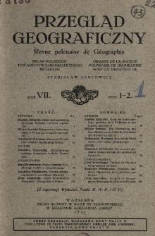 Przegląd Geograficzny T. 7 z. 1-2 (1927)
