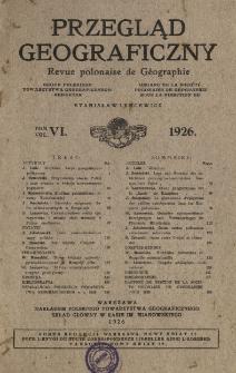Przegląd Geograficzny T. 6 (1926)