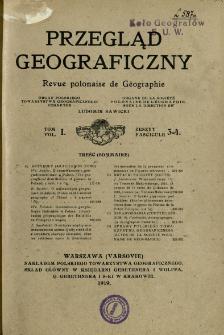 Przegląd Geograficzny T. 1 z. 3-4 (1919)