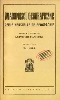 Wiadomości Geograficzne R. 2 z. 1-2 (1924)