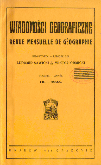 Wiadomości Geograficzne R. 3 z. 1-2 (1925)