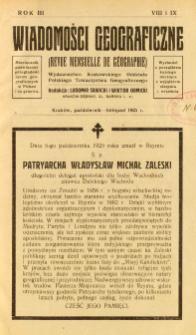 Wiadomości Geograficzne R. 3 z. 8-9 (1925)