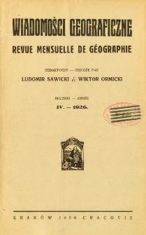 Wiadomości Geograficzne R. 4 z. 1-2 (1926)