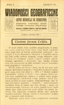 Wiadomości Geograficzne R. 5 z. 6 (1927)