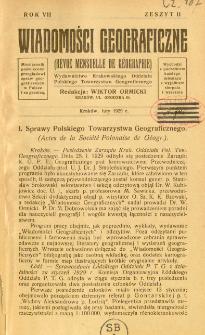 Wiadomości Geograficzne R. 7 z. 2 (1929)
