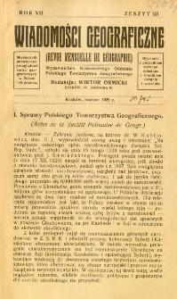 Wiadomości Geograficzne R. 7 z. 3 (1929)