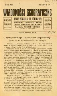 Wiadomości Geograficzne R. 7 z. 4 (1929)