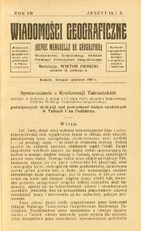 Wiadomości Geograficzne R. 7 z. 9-10 (1929)