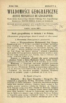 Wiadomości Geograficzne R. 8 z. 3 (1930)