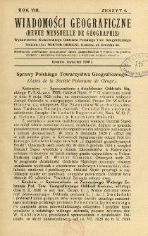 Wiadomości Geograficzne R. 8 z. 4 (1930)