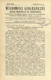 Wiadomości Geograficzne R. 8 z. 5-7 (1930)