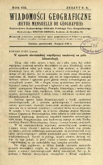 Wiadomości Geograficzne R. 8 z. 8-9 (1930)