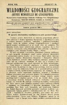 Wiadomości Geograficzne R. 8 z. 10 (1930)