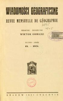 Wiadomości Geograficzne R. 9 z. 1-2 (1931)
