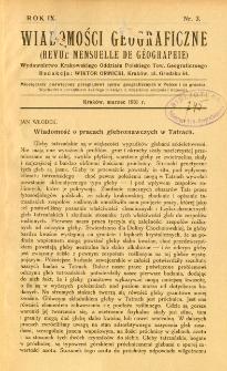 Wiadomości Geograficzne R. 9 z. 3 (1931)