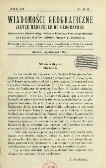 Wiadomości Geograficzne R. 12 z. 5-9 (1934)