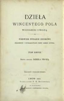 Dzieła prozą Wincentego Pola. T. 1.