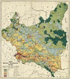 Mapa gęstości zaludnienia Polski : według danych spisu ludności z r. 1931 r.