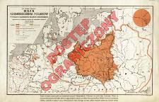 Mapa rozmieszczenia Polaków : w Polsce i sąsiednich krajach europejskich