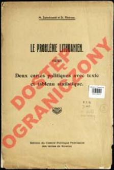 Le problème Lithuanien : deux cartes politiques avec text et tableau statistique