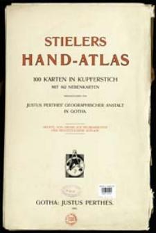 Stielers Hand-Atlas : 100 Karten in Kupferstich mit 162 Nebenkarten