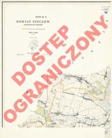 Powiat Pińczów : województwo kieleckie : skala 1:25 000