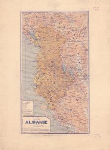 Carte de l'Albanie : èchelle 1:900.000