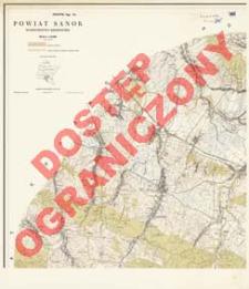Powiat Sanok : województwo rzeszowskie : skala 1:25 000