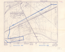 Stadtplan von Berlin : Annex A to a protocol concerning Koenigs Weg dated June 24, 1955 signed by Colonel I. A. Kotsiuba as representative of the soviet autorities and Colonel Ben Harrell as representative of the american authorities (note: The boundary along Koenig Weg is 30 centimeters south of this roadway.)