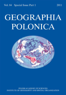 Geographia Polonica Vol. 84 Special Issue Part 1 (2011), Contents