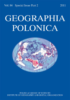 Geographia Polonica Vol. 84 Special Issue Part 2 (2011), Contents