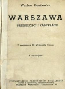 Warszawa w przeszłości i zabytkach