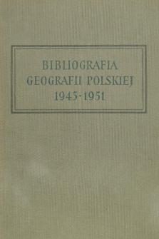 Bibliografia Geografii Polskiej 1945-1951