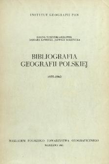 Bibliografia Geografii Polskiej 1955-1960