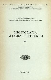 Bibliografia Geografii Polskiej 1974