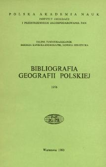 Bibliografia Geografii Polskiej 1976
