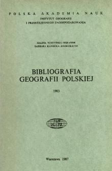 Bibliografia Geografii Polskiej 1983