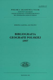 Bibliografia Geografii Polskiej 1997