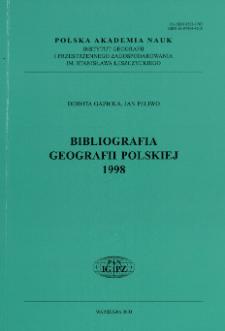 Bibliografia Geografii Polskiej 1998