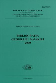 Bibliografia Geografii Polskiej 2000