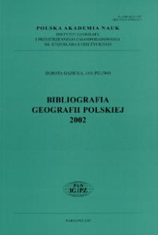 Bibliografia Geografii Polskiej 2002